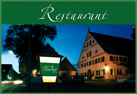 Gasthof Munding in  Krumbach: cosy atmosphere and delicious food