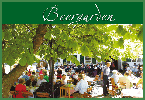 Munding' beautiful beergarden in Krumbach